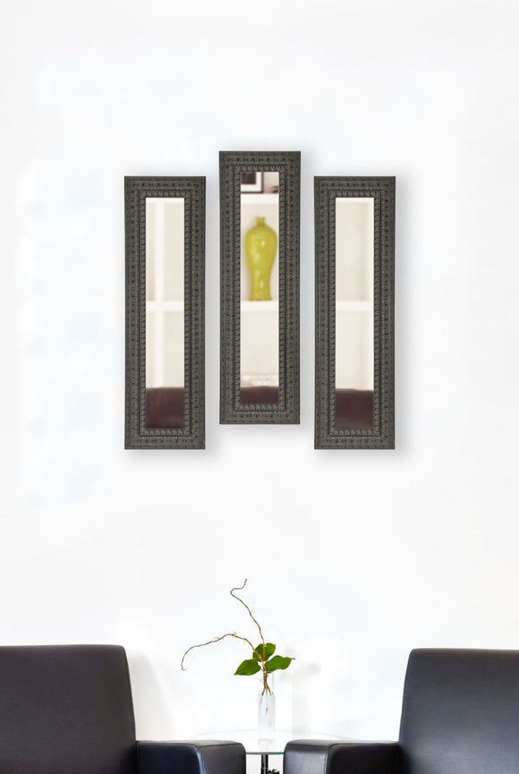 American Made Rayne Dark Embellished Panel Mirror (P51 Set of 3) *Suggested Retail*