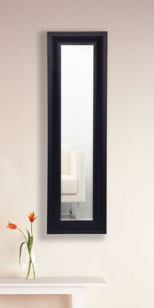 American Made Rayne Grand Black and Aged Silver Panel Mirror (P54) *Suggested Retail*