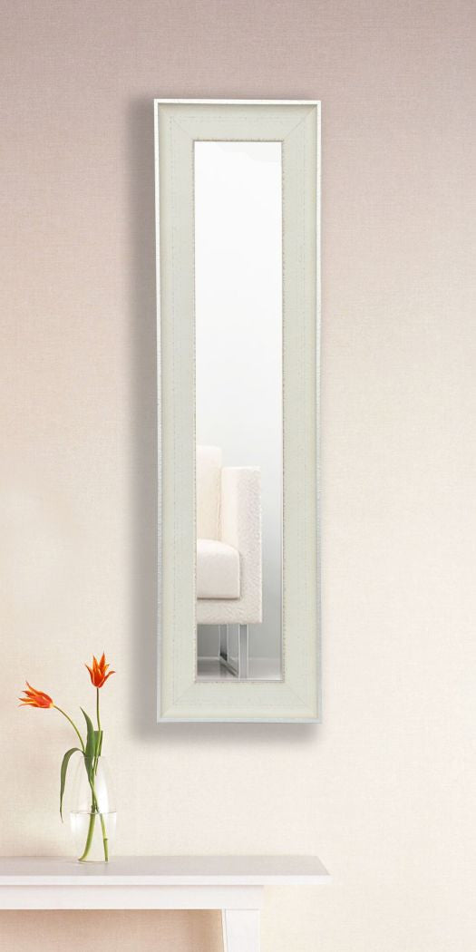 American Made Rayne Vintage White Panel Mirror (P56) *Suggested Retail*