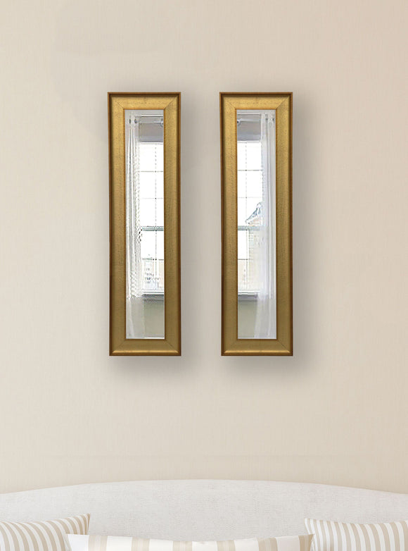 American Made Rayne Vintage Gold Panel Mirror (P57 Set of 2) *Suggested Retail*