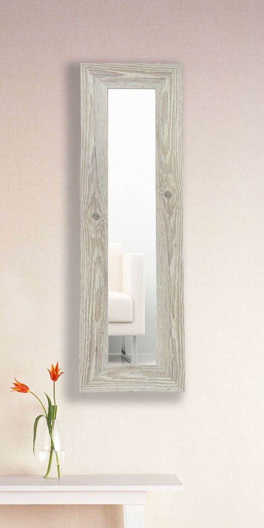 American Made Rayne White Washed Antique Panel Mirror (P59) *Suggested Retail*