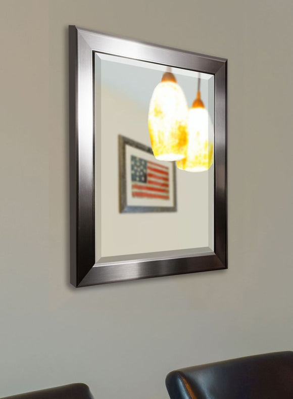 American Made Rayne Silver Rounded Wall Mirror - R001 ~Suggested Retail~