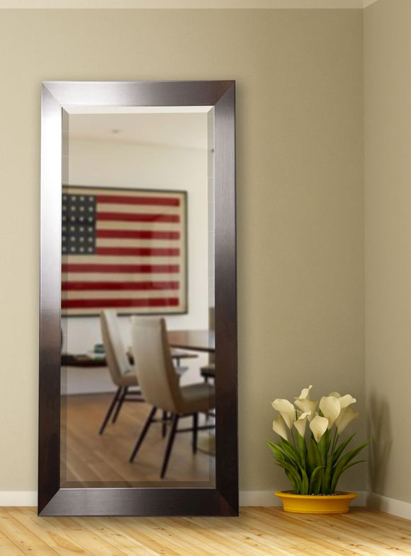 American Made Rayne Silver Petite Extra Tall Mirror Size 29x69.5 - R002XT ~Suggested Retail~