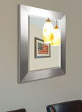 American Made Rayne Silver Wide Beveled Wall Mirror (R003) *Suggested Retail*