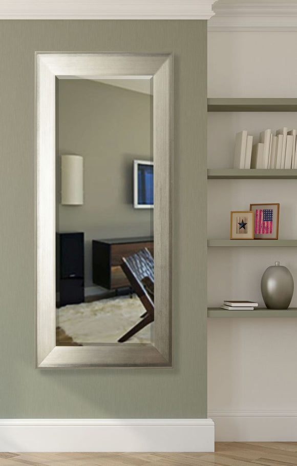 American Made Rayne Brushed Silver Extra Tall Mirror (R004XT) *Suggested Retail*