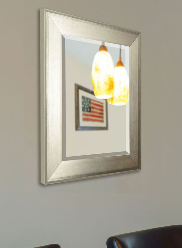 American Made Rayne Brushed Silver Wall Mirror - R004 ~Suggested Retail~