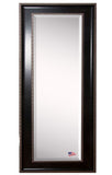 American Made Rayne Black/Silver Caged Trim Body Mirror 28x66 - V008TMorR008TM ~Suggested Retail~
