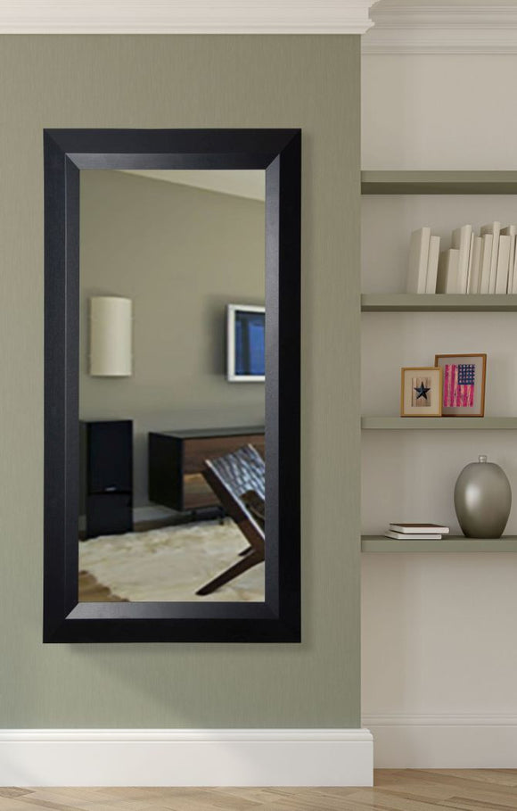 American Made Rayne Solid Black Angle Tall Mirror Size 30x65 - R009T ~Suggested Retail~