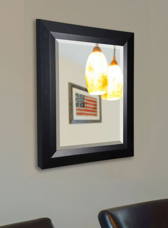 American Made Rayne Solid Black Angle Wall Mirror - R009 ~Suggested Retail~