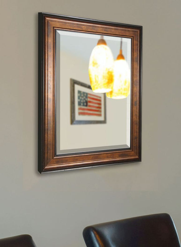 American Made Rayne Bronze and Black Wall Mirror - R015 ~Suggested Retail~