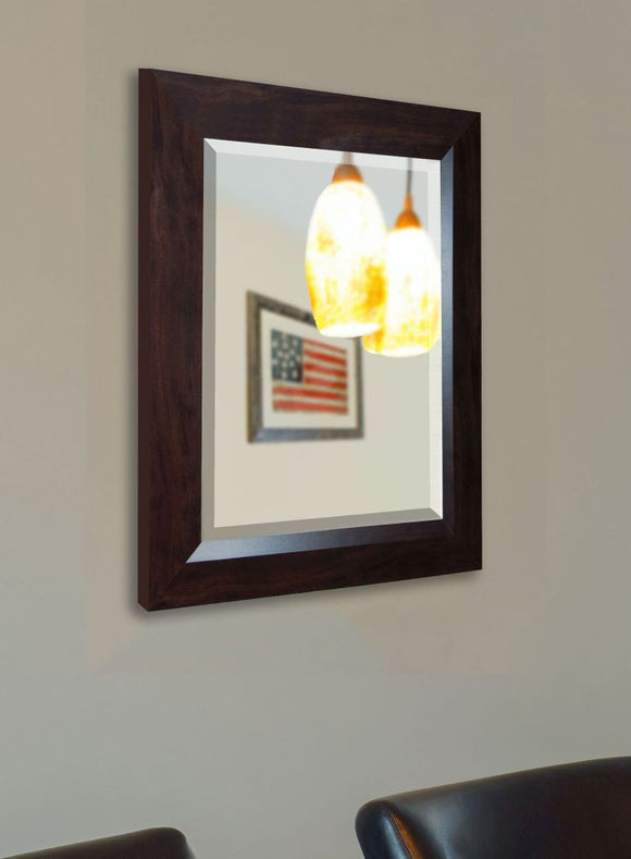 American Made Rayne Dark Walnut Wall Mirror - R016 ~Suggested Retail~