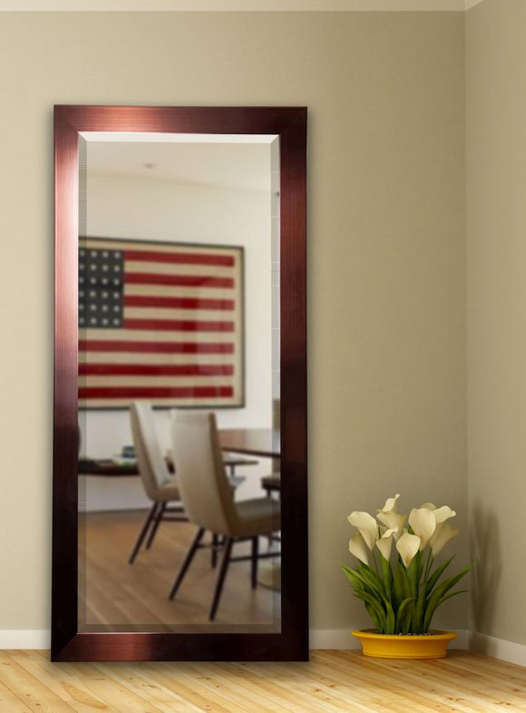 American Made Rayne Shiny Bronze Beveled Tall Mirror (R020BT) *Suggested Retail*