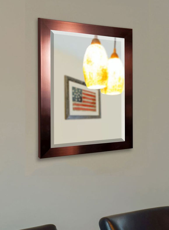 American Made Rayne Shiny Bronze Wall Mirror - R020 ~Suggested Retail~