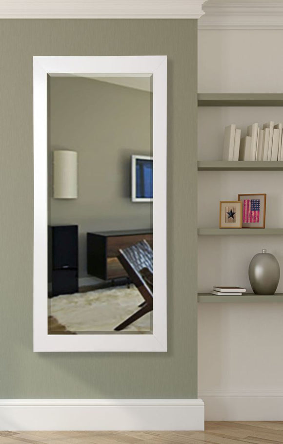 American Made Rayne Glossy White Beveled Tall Mirror (R021BT) *Suggested Retail*