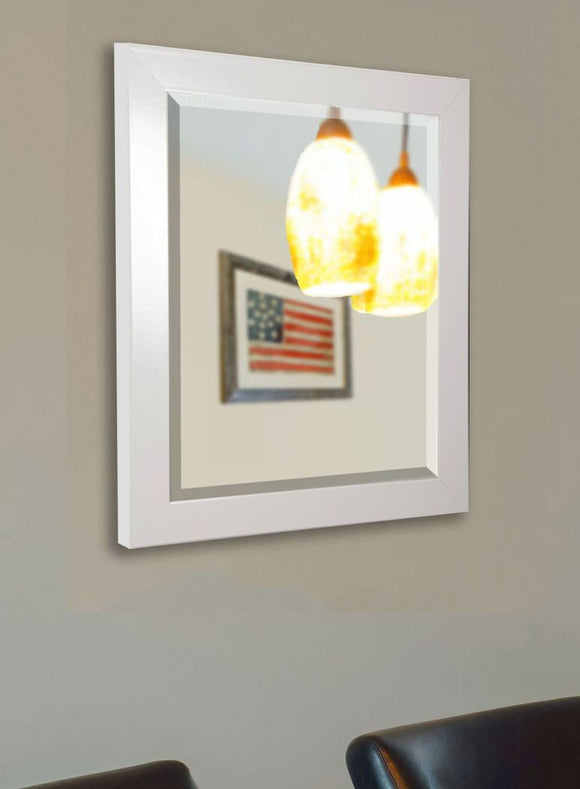American Made Rayne Glossy White Wall Mirror (R021) *Suggested Retail*
