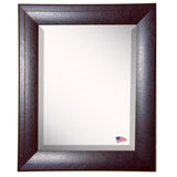 American Made Rayne Espresso Leather Vanity Mirror (V023) *Suggested Retail*