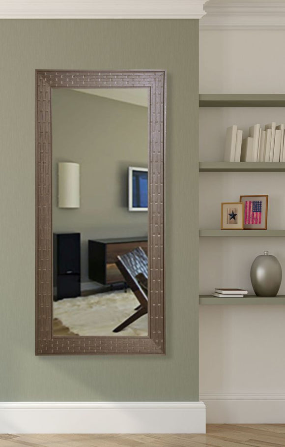 American Made Rayne Espresso Bricks Tall Mirror Size 29.5x64.5 - R026T ~Suggested Retail~