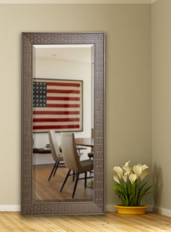 American Made Rayne Espresso Bricks Beveled Tall Mirror (R026BT) *Suggested Retail*