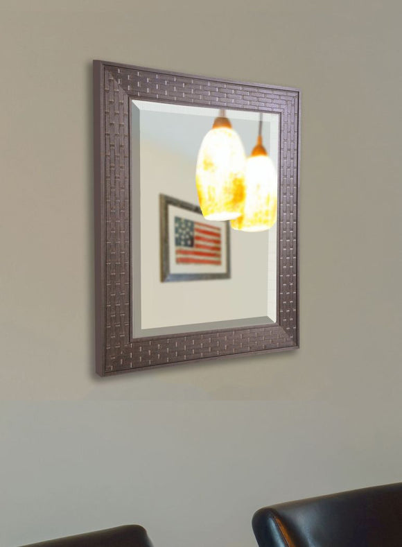 American Made Rayne Espresso Bricks Wall Mirror - R026 ~Suggested Retail~