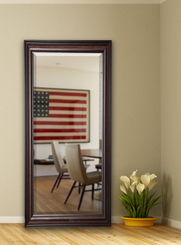 American Made Rayne American Walnut Beveled Tall Mirror (R030BT) *Suggested Retail*