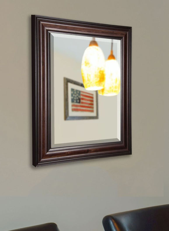 American Made Rayne American Walnut Beveled Wall Mirror (R030) *Suggested Retail*