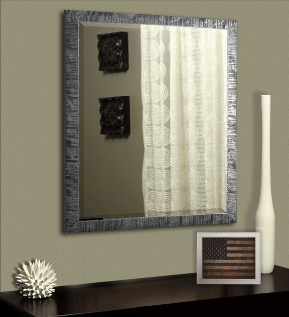American Made Rayne Safari Silver Beveled Wall Mirror (R034) *Suggested Retail*