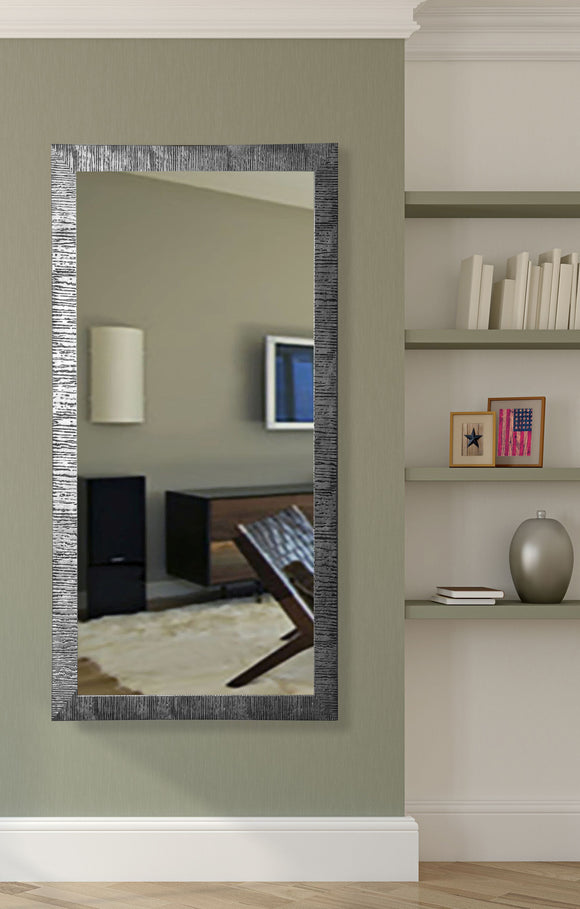 American Made Rayne Silver City Floor/Vanity Mirror Size 28.5x63.5 - V0034T ~Suggested Retail~