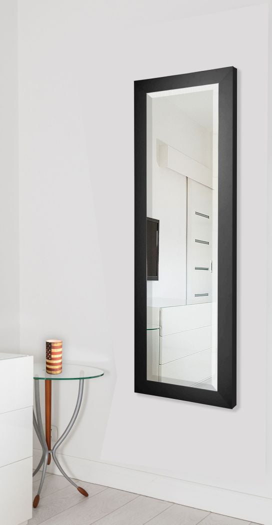 American Made Rayne Black Satin Full Body Mirror Size 26x64 - V035TM or R035TM ~Suggested Retail~