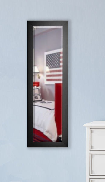 American Made Rayne Black Satin Slender Body Mirror Size 21x60 - V035TS or R035TS ~Suggested Retail~