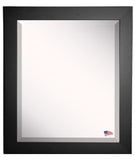 American Made Rayne Black Satin Wide Wall/Vanity Mirror - R035 ~Suggested Retail~