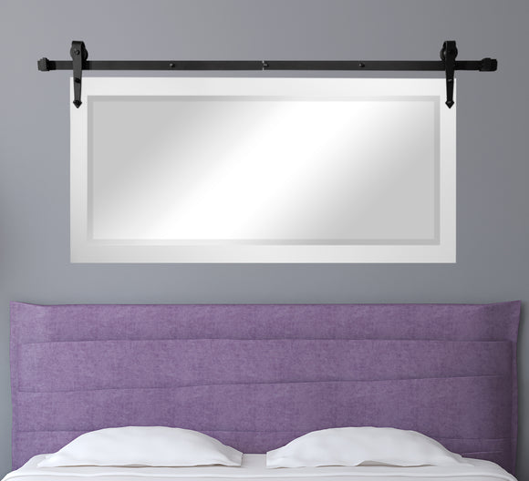 Beveled Wall Mirror with Barn Door Kit (R036) *Suggested Retail*