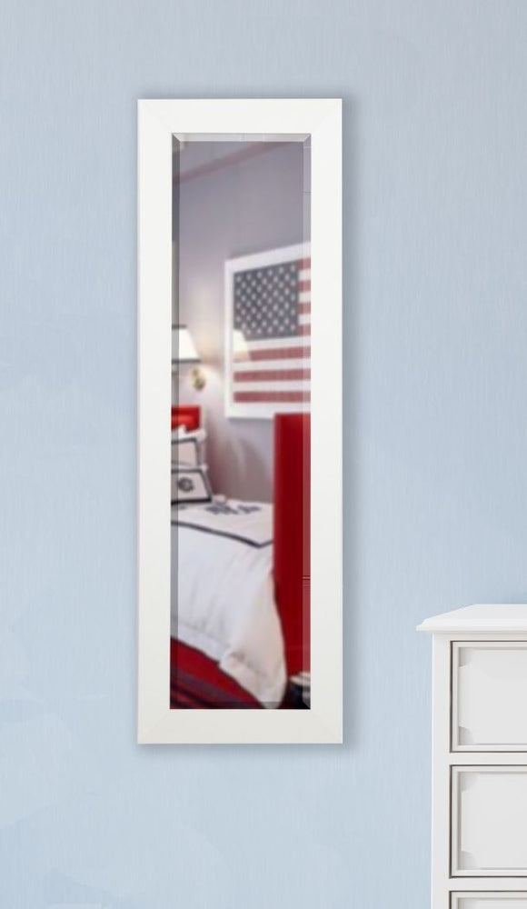 American Made Rayne White Satin Slender Body Mirror Size 21x60 - V036TS or R036TS ~Suggested Retail~