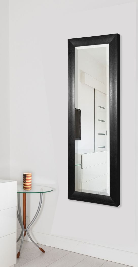 American Made Rayne Stitched Black Leather Body Mirror (V038TM or R038TM) *Suggested Retail*