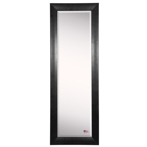 American Made Rayne Stitched Black Leather Body Mirror (V038TS or R038TS) *Suggested Retail*