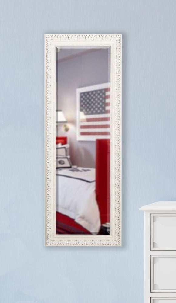 American Made Rayne French Victorian White Body Mirror (V039TS or R039TS) *Suggested Retail*