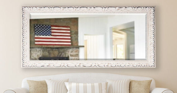 American Made Rayne French Victorian White Beveled Mirror (R039BT) *Suggested Retail*