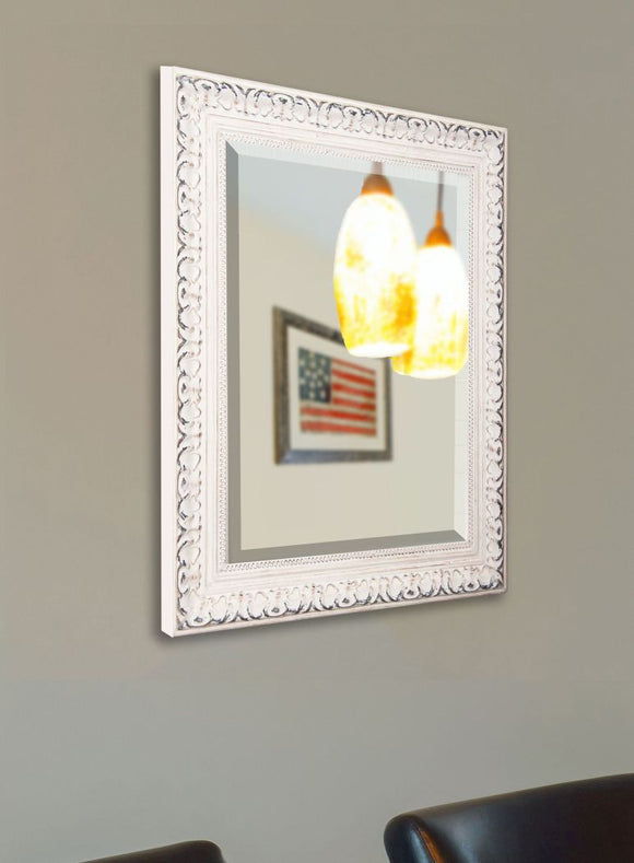 American Made Rayne French Victorian White Wall Mirror (R039) *Suggested Retail*