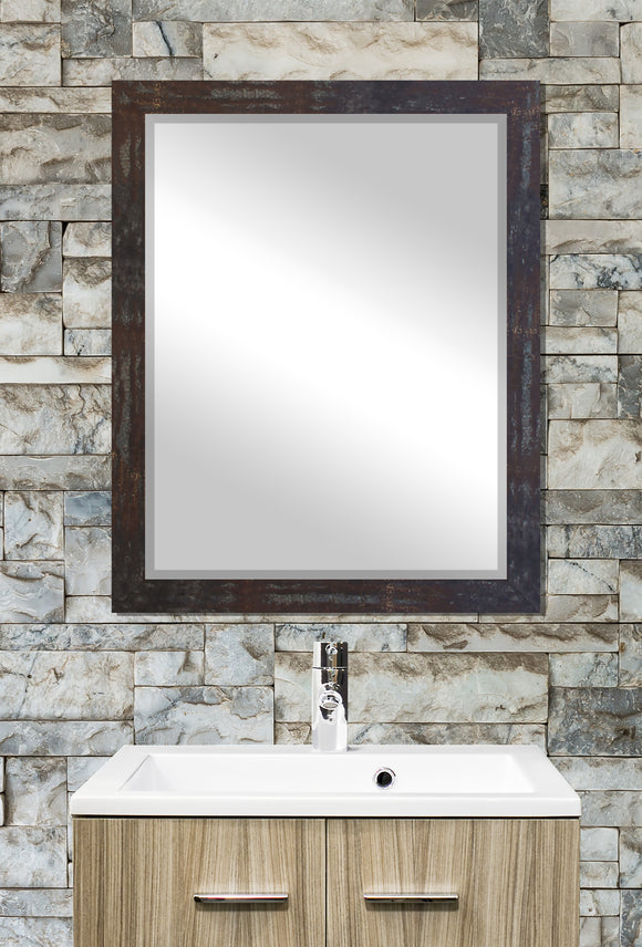 American Made Rayne Industrial Steel Beveled Rectangle Wall Mirror (R043) *Suggested Retail*