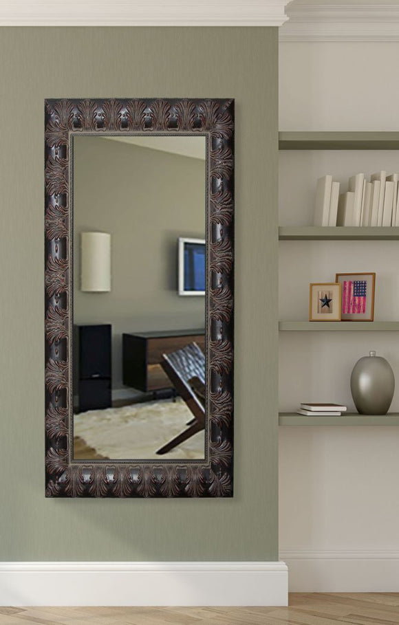 American Made Rayne Feathered Accent Mirror Size 31.5x66.5 - R049T ~Suggested Retail~