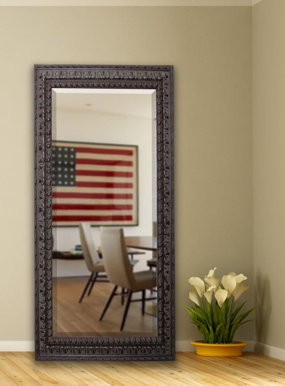 American Made Rayne Dark Embellished Extra Tall Mirror Size 30.5x71 - R051XT ~Suggested Retail~