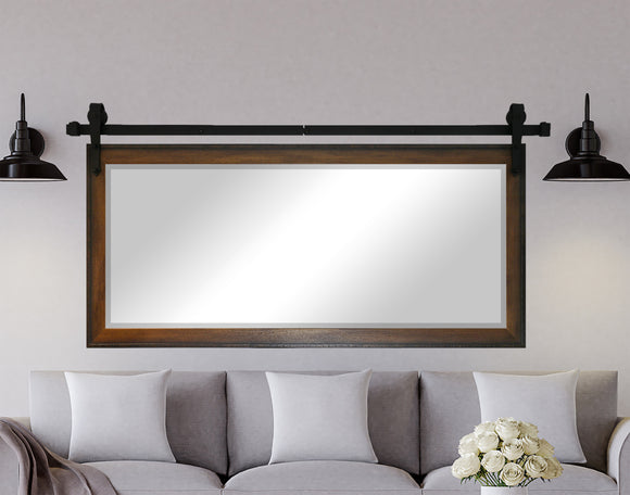 Beveled Wall Mirror with Barn Door Kit (R052) *Suggested Retail*