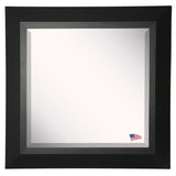 American Made Rayne Attractive Matte Black Beveled Vanity Wall Mirror (R053) *Suggested Retail*