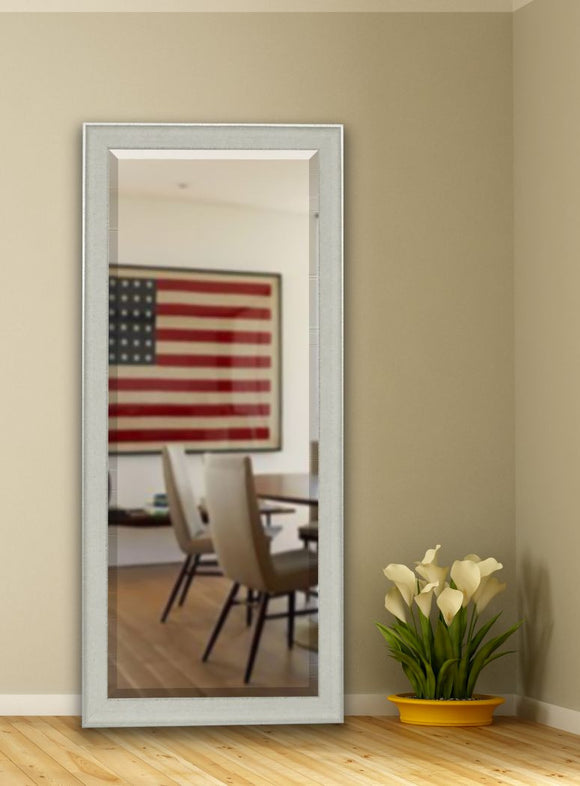 American Made Rayne Vintage White Beveled Tall Mirror (R056BT) *Suggested Retail*