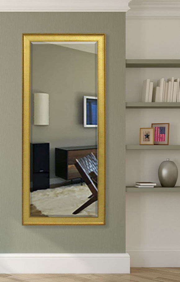 American Made Rayne Vintage Gold Extra Tall Mirror Size 28.5x69 - R057XT ~Suggested Retail~