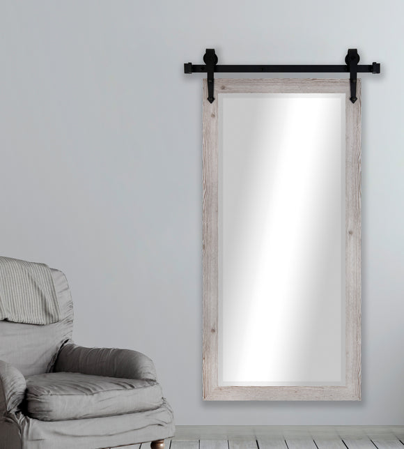 Beveled Wall Mirror with Barn Door Kit (R059BT) *Suggested Retail*