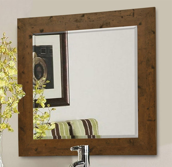 American Made Rayne Rustic Light Walnut Wall Mirror - R062 ~Suggested Retail~