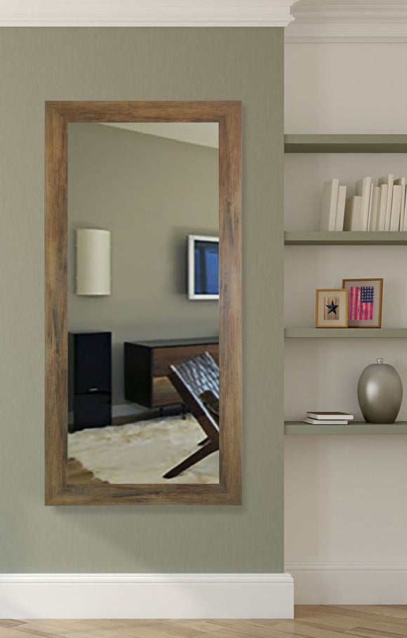 American Made Rayne Brown Barnwood Tall Mirror (R063T) *Suggested Retail*