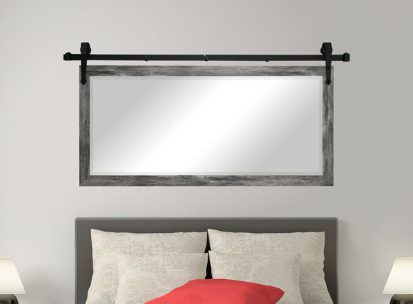 Beveled Wall Mirror with Barn Door Kit (R064) *Suggested Retail*