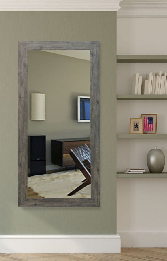 American Made Rayne Grey Barnwood Tall Mirror (R064T) *Suggested Retail*