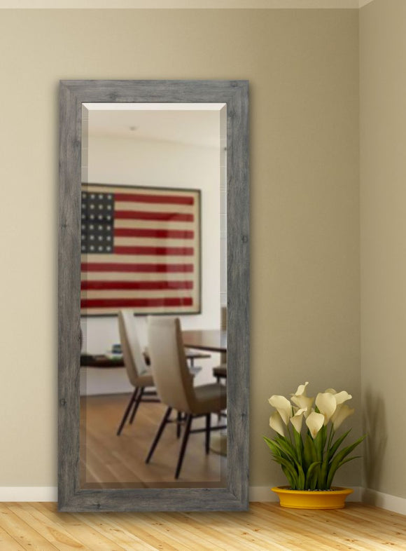 American Made Rayne Gray Barnwood Beveled Tall Mirror (R064BT) *Suggested Retail*